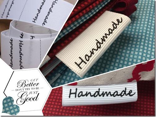 a handbmade label