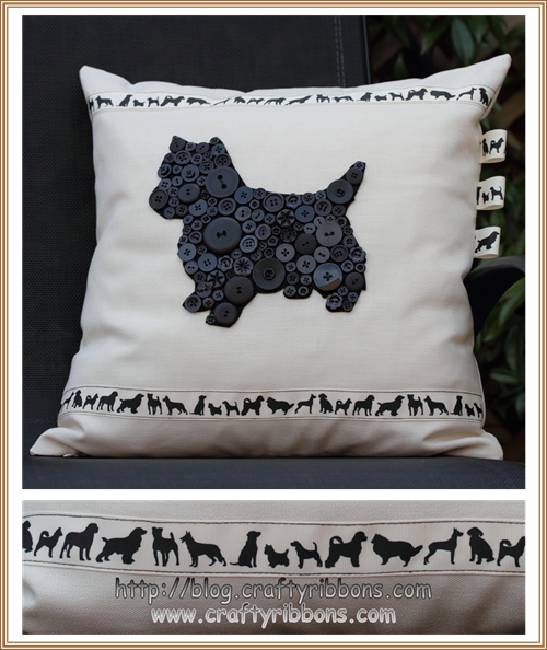 hello wednesday dog cushion