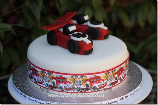hello wednesday racing cake