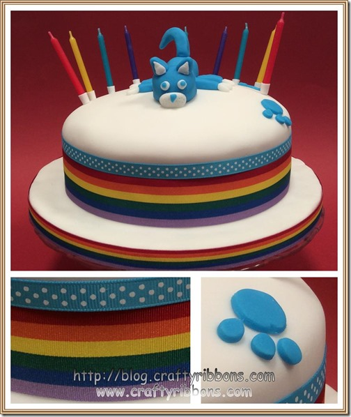 hello wednesday rainbow cake